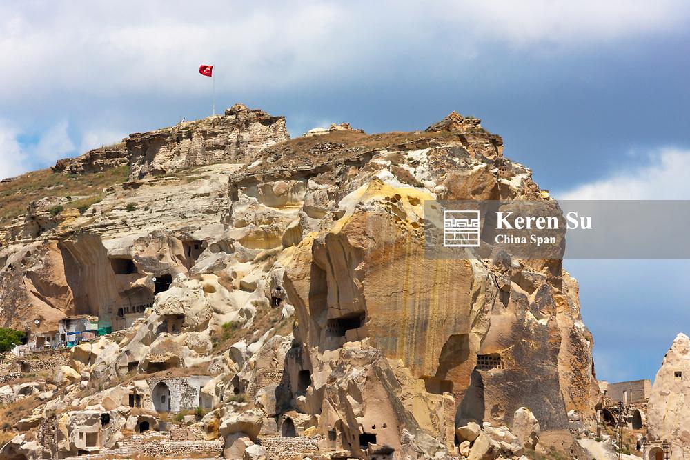 Houses carved into the rocks, Nevsehir, Central Anatolia, Turkey