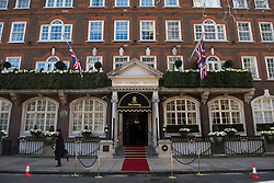 © London News Pictures. 02/03/2015. London, UK. The Goring Hotel in Victoria, London on March 2, 2015. Catherine, Duchess of Cambridge leaving  visited The Goring hotel today (March 2, 2015).  Photo credit: Ben Cawthra/LNP