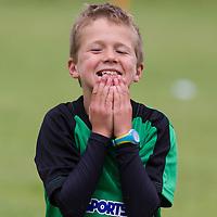 Ashton Glynn misses a chance during the Avenue Utd Summer Soccer Camp