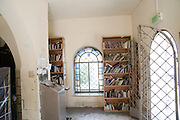 Israel, Upper Galilee, Amuka, Interior of the grave of Yonatan ben Uziel, Pilgrimage site for believers seeking a spouse or marriage