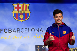 January 7, 2018 - Barcelona, Catalonia, Spain - January 7, 2017 - Camp Nou, Barcelona, Spain -Presentation of Philippe Coutinho as new player of the FC Barcelona, in Barcelona. (Credit Image: © Eric Alonso via ZUMA Wire)