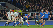 Twickenham, Great Britain, Scott SPEDDING, running through the midfield during the Six Nations Rugby England vs France, played at the RFU Stadium, Twickenham, ENGLAND. <br /> <br /> Saturday   21/03/2015<br /> <br /> [Mandatory Credit; Peter Spurrier/Intersport-images]