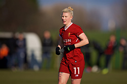 LIVERPOOL, ENGLAND - Sunday, February 4, 2018: Liverpool's Beth England during the Women's FA Cup 4th Round match between Liverpool FC Ladies and Watford FC Ladies at Walton Hall Park. (Pic by David Rawcliffe/Propaganda)