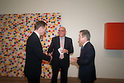SIR NICHOLAS SEROTA; JAKE SHAFRAN; LORD BROWNE, Damien Hirst, Tate Modern: dinner. 2 April 2012.