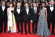 "(L-R) Clive Owen, Mariom Cotillard,James Cann,Billy Crudup, Guillaume Canet, Zoe Salanda & Noah Emmerich attend ""Blood Ties"" Red Carpet  during the 66th Annual Cannes Film Festival at the Palais des Festivals on May 20, 2013 in Cannes, France.."