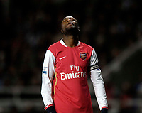 Photo: Jed Wee/Sportsbeat Images.<br /> Newcastle United v Arsenal. The FA Barclays Premiership. 05/12/2007.<br /> <br /> Arsenal captain William Gallas rues two dropped points.
