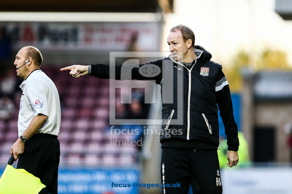 Northampton assistant manager, Alan Knill, during the Sky Bet League 2 match at Sixfields Stadium, Northampton<br /> Picture by Andy Kearns/Focus Images Ltd 0781 864 4264<br /> 01/11/2014