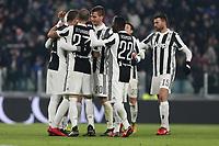 20.12.2017 - Torino - Tim Cup - Coppa Italia   -  Juventus-Genoa nella  foto:  l'esultanza dei giocatori della Juventus