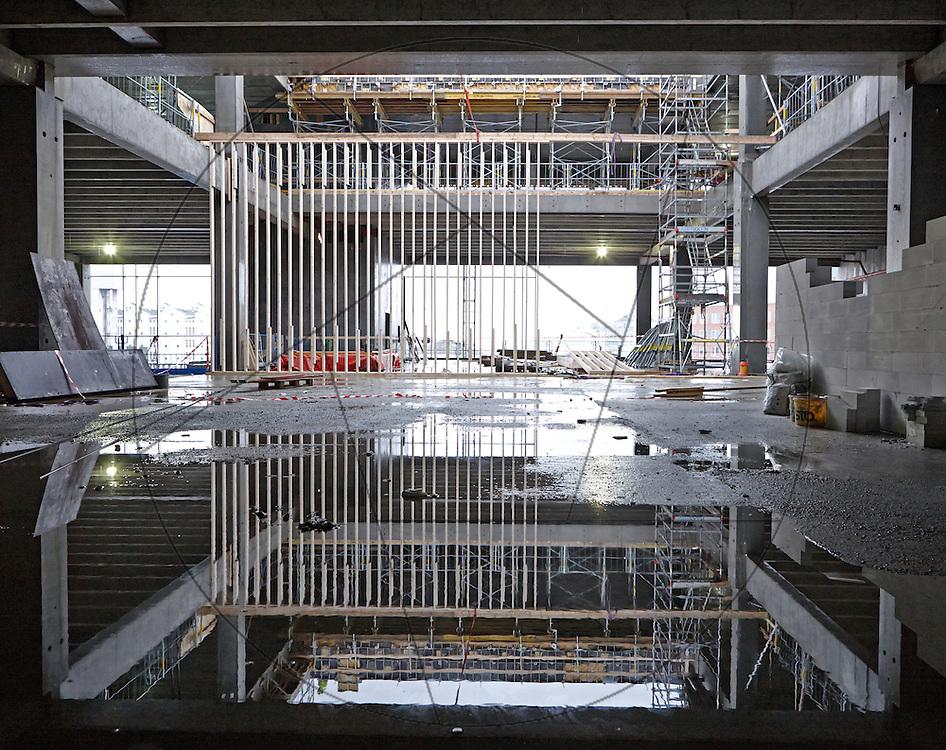 bygning af DOKK1, bibliotek og Borgerservice på havnen i Aarhus,