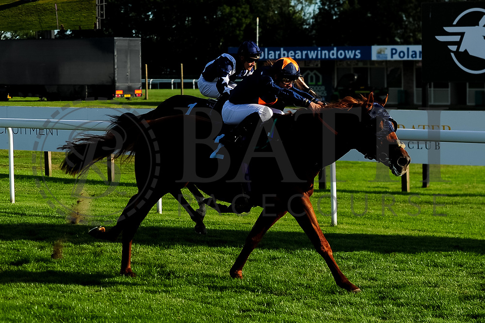 Zero to Hero ridden by Pierre-Luois Jamin and trained by Archie Watson in the Sds Aqua-Xchange Novice Stakes race. Education ridden by Raul Da Silva and trained by Ismail Mohammed in the Sds Aqua-Xchange Novice Stakes race.  - Ryan Hiscott/JMP - 14/09/2019 - PR - Bath Racecourse - Bath, England - Race Meeting at Bath Racecourse
