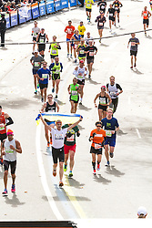 ING New York CIty Marathon: stream of runners in the final stretch of race