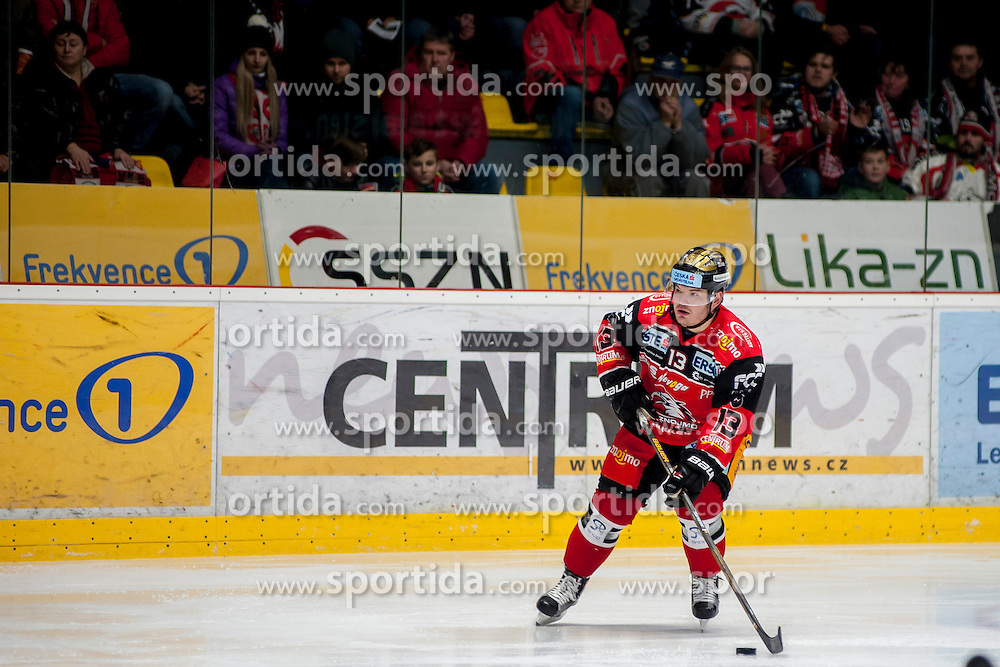 30.10.2016, Ice Rink, Znojmo, CZE, EBEL, HC Orli Znojmo vs HC TWK Innsbruck Die Haie, 40. Runde, im Bild Colton Jaret Yellow Horn (HC Orli Znojmo) // during the Erste Bank Icehockey League 40th round match between HC Orli Znojmo and HC TWK Innsbruck Die Haie at the Ice Rink in Znojmo, Czech Republic on 2016/10/30. EXPA Pictures © 2017, PhotoCredit: EXPA/ Rostislav Pfeffer