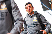 Leeds United midfielder Pablo Hernandez (19) arrives at the ground during the EFL Sky Bet Championship match between Leeds United and Brentford at Elland Road, Leeds, England on 21 August 2019.