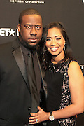 8 February -Washington, D.C: (L-R) Recording Artist Robert Glasper and Angelicka Glasper attend the BET Honors 2014 Red Carpet held at the Warner Theater on February 8, 2014 in Washington, D.C.  (Terrence Jennings)
