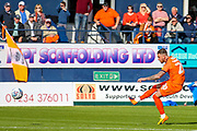Goal Luton Town midfielder George Moncur (20) scores a goal 1-0 during the EFL Sky Bet League 1 match between Luton Town and Oxford United at Kenilworth Road, Luton, England on 4 May 2019.