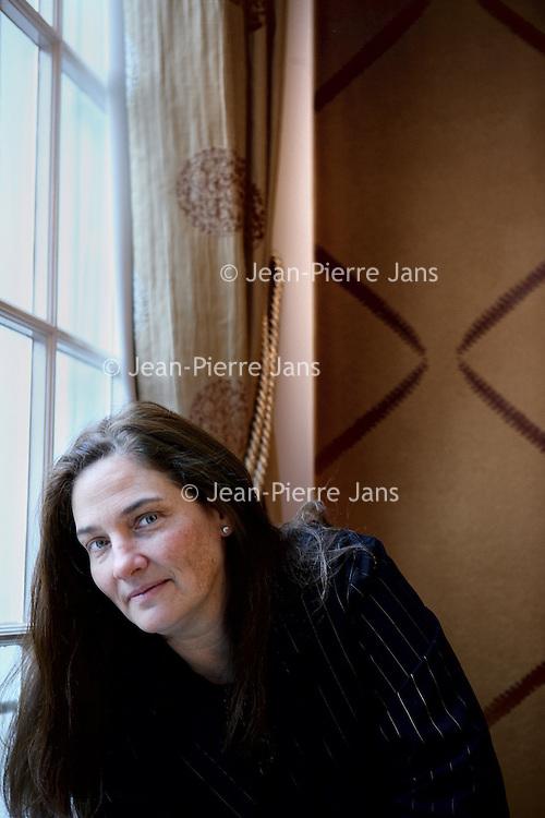 Nederland, Amsterdam , 1 november 2012.<br /> A.M. Homes wordt gezien als een van de beste Amerikaanse auteurs van dit moment.<br /> A.M. Homes, writer, one of the best American authors now.