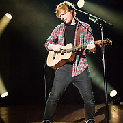 Ed Sheeran performing at Merriweather Post Pavilion on September 7, 2014. <br />