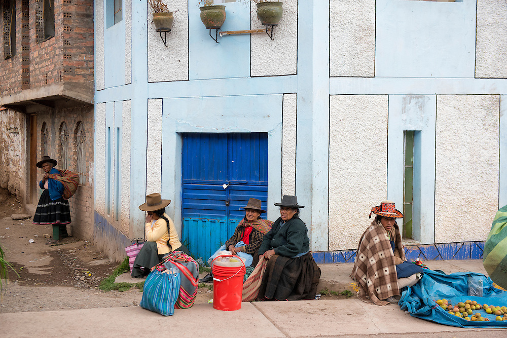 South America,Peru, market in small pueblo near Cuzco