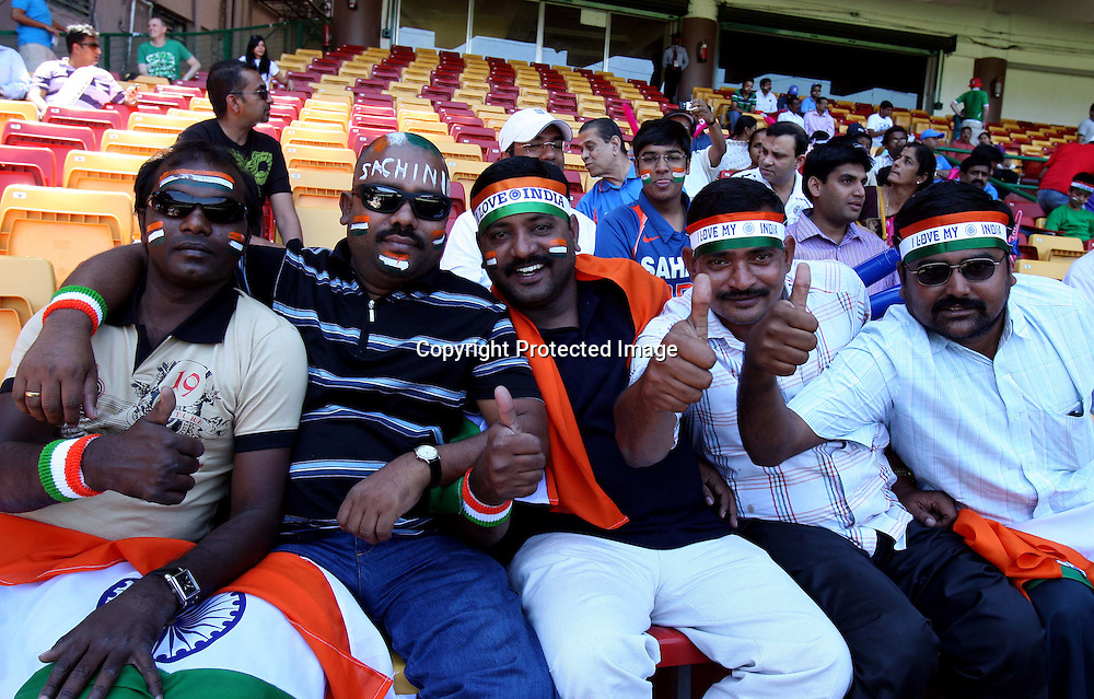 Indian cricket fans during the ICC Cricket World Cup - 22nd Match, Group B, India vs Ireland Played at M Chinnaswamy Stadium, Bangalore, 6 March 2011 - day/night (50-over match)