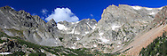 Indian Peaks Wilderness panorama of the Colorado Rocky Mountains