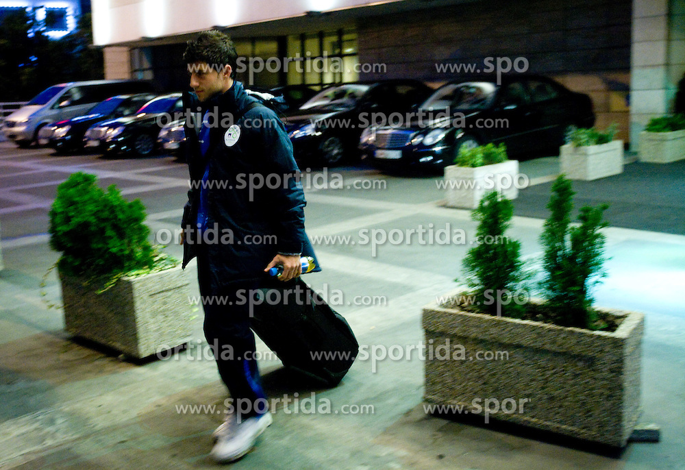Bojan Jokic of Slovenian National team at departure to the FIFA World Cup Qualifications match between Slovakia and Slovenia, on October 10, 2009, Crown Plaza Hotel, near Tehelne Pole Stadium, Bratislava, Slovakia.  (Photo by Vid Ponikvar / Sportida)