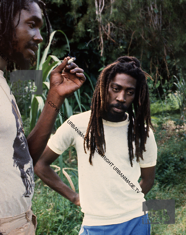 Bunny Wailer on his Farm in Hectors River Portland Jamaica. 1978