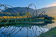 Entrance of San Juan River to Strait of Juan de Fuca. Pacific Ocean<br />Port Renfrew<br />British Columbia<br />Canada