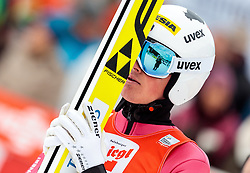 18.12.2016, Nordische Arena, Ramsau, AUT, FIS Weltcup Nordische Kombination, Skisprung, im Bild Samuel Costa (ITA) // Samuel Costa of Italy reacts during Skijumping Competition of FIS Nordic Combined World Cup, at the Nordic Arena in Ramsau, Austria on 2016/12/18. EXPA Pictures © 2016, PhotoCredit: EXPA/ JFK
