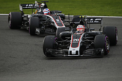 August 27, 2017 - Francorchamps, Belgium - KEVIN MAGNUSSEN of Denmark and Haas F1 Team drives during the 2017 Formula 1 Belgian Grand Prix in Francorchamps, Belgium. (Credit Image: © James Gasperotti via ZUMA Wire)