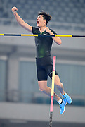Bokai Huang (CHN) places eighth in the pole vault at 18-4 3/4 (5.61m) during the IAAF Diamond League Shanghai 2018 in Shanghai, China, Saturday, May 12, 2018. (Jiro Mochizukii/Image of Sport)