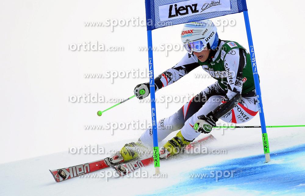 28.12.2013, Hochstein, Lienz, AUT, FIS Weltcup Ski Alpin, Lienz, Riesentorlauf, Damen, 1. Durchgang, im Bild Eva-Maria Brem (AUT) // Eva-Maria Brem (AUT) during the 1st run of ladies giant slalom Lienz FIS Ski Alpine World Cup at Hochstein in Lienz, Austria on 2013/12/28. EXPA Pictures © 2013, PhotoCredit: EXPA/ Erich Spiess