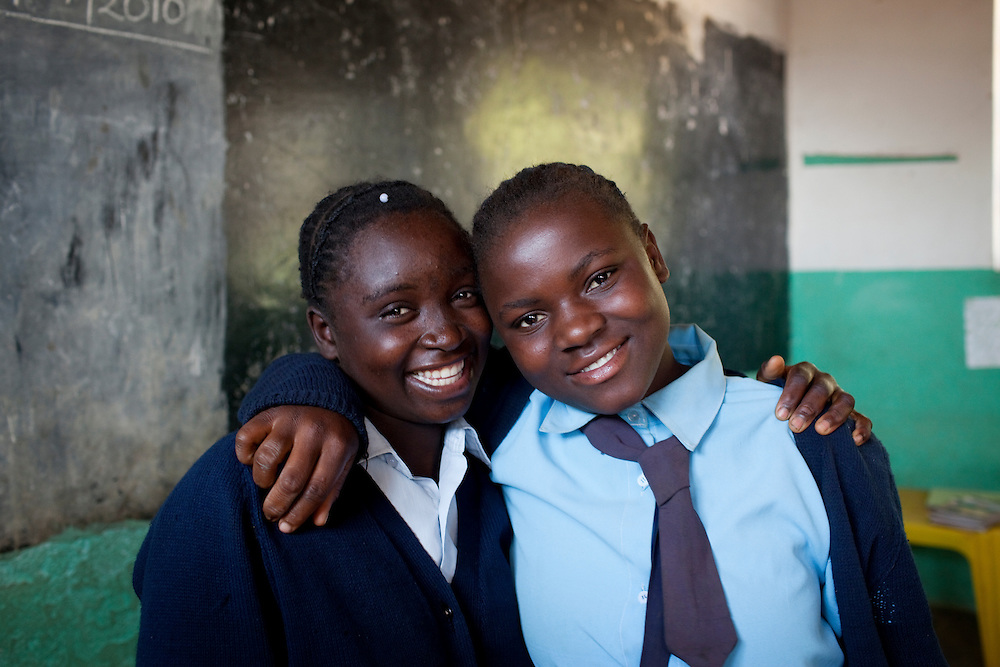 Choolwe Chiire and Orine Haangoma. Chiobola school, Zambia.