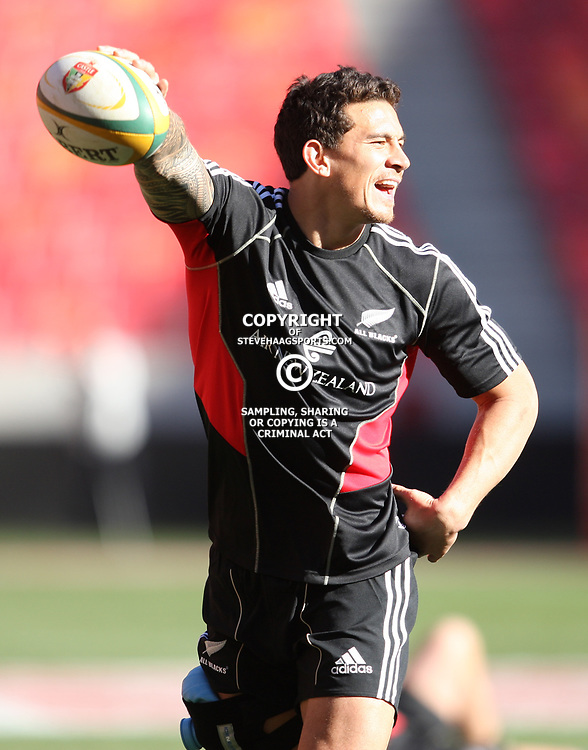 PORT ELIZABETH, SOUTH AFRICA - AUGUST 19, Sonny Bill Williams during the New Zealand national rugby team Captain's Run at Nelson Mandela Bay Stadium on August 19, 2011 in Port Elizabeth, South Africa<br /> Photo by Steve Haag / Gallo Images