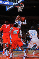 North Carolina guard/forward Will Graves #13 grabs a rebound against the Syracuse Orangemen during the 2K Sports Classic at Madison Square Garden. (Mandatory Credit: Delane B. Rouse/Delane Rouse Photography)