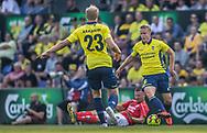 Hjörtur Hermannsson (Brøndby IF) under kampen i 3F Superligaen mellem Brøndby IF og Silkeborg IF den 14. juli 2019 på Brøndby Stadion (Foto: Claus Birch)