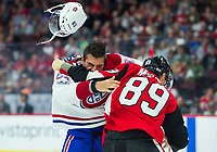 OTTAWA, ON - SEP 23: NHL preseason match between the Ottawa Senators and the Montreal Canadiens at the Canadian Tire Centre in Ottawa, ON. Canada on Sept. 23, 2017.<br /> <br /> PHOTO: Steve Kingsman