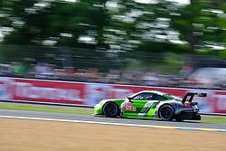 June 15, 2018 - Le Mans, Sarthe, France - Proton Competition PORSCHE 911 RSR Driver PATRICK LONG (USA) in action during the 86th edition of the 24 hours of Le Mans 2nd round of the FIA World Endurance Championship at the Sarthe circuit at Le Mans - France (Credit Image: © Pierre Stevenin via ZUMA Wire)