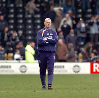 Photo: Leigh Quinnell.<br /> Derby County v Crystal Palace. Coca Cola Championship. 25/03/2006. Palace manager Ian Dowie upset after loosing the game.