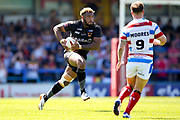 Bradford Bulls loose forward Ross Peltier (17) on a run  during the Kingstone Press Championship match between Rochdale Hornets and Bradford Bulls at Spotland, Rochdale, England on 18 June 2017. Photo by Simon Davies.