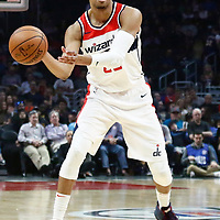 09 December 2017: Washington Wizards forward Otto Porter Jr. (22) passes the ball during the LA Clippers 113-112 victory over the Washington Wizards, at the Staples Center, Los Angeles, California, USA.