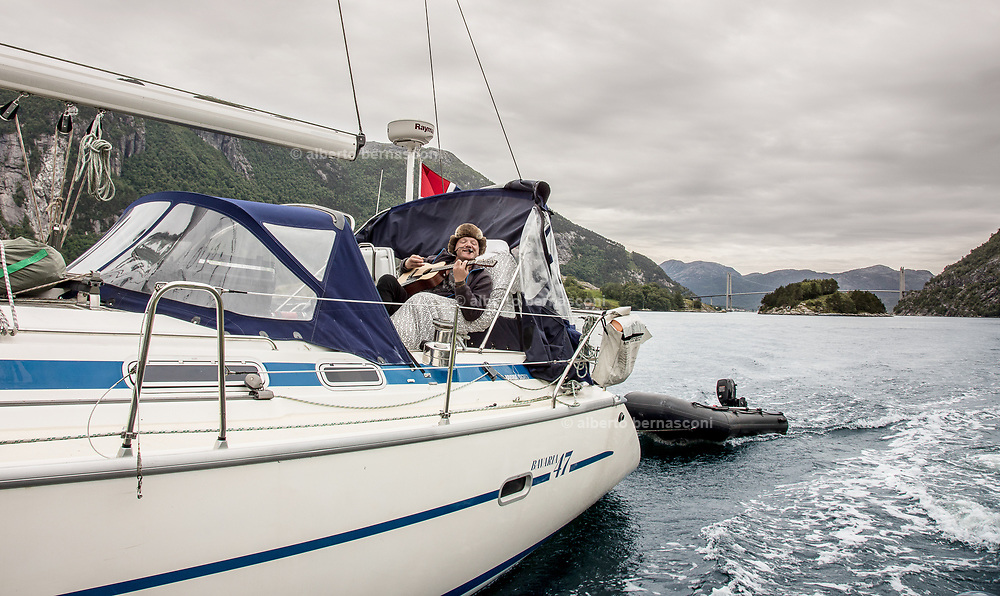 boat trip on Lysefjord, 15 minutes from the city of Stavanger.