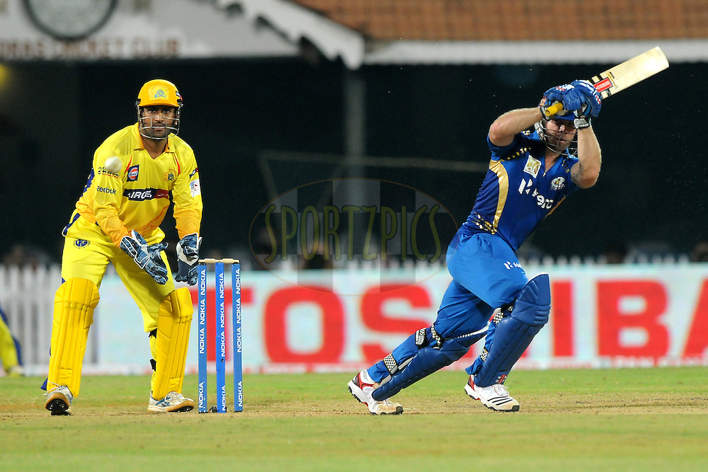 Aiden Blizzard of Mumbai Indians bats during match 3 of the NOKIA Champions League T20 ( CLT20 )between the Chennai Superkings and the Mumbai Indians held at the M. A. Chidambaram Stadium in Chennai , Tamil Nadu, India on the 24th September 2011..Photo by Pal Pillai/BCCI/SPORTZPICS