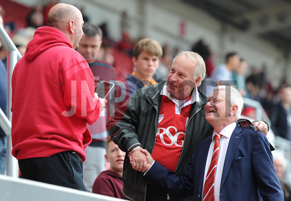 Majority shareholder of Bristol City talks with fans in the South Stand before the game - Mandatory byline: Dougie Allward/JMP - 07966 386802 - 03/10/2015 - FOOTBALL - Ashton Gate - Bristol, England - Bristol City v MK Dons - Sky Bet Championship