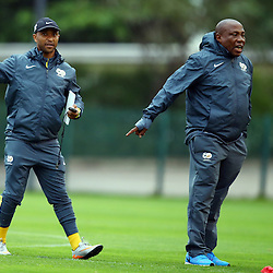 DURBAN, SOUTH AFRICA, Sunday 15 November 2015 - Shakes Mashaba during the South African Football (Bafana Bafana) team training session at the People's Park, Moses Mabhida Stadium, Durban, South Africa. (Photo by Steve Haag)<br />