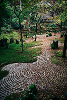 A zen rock garden near Dazaifu Shrine in Kyushu, Japan.