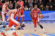 DESCRIZIONE : Campionato 2014/15 Dinamo Banco di Sardegna Sassari - Giorgio Tesi Group Pistoia<br /> GIOCATORE : Landon Milbourne<br /> CATEGORIA : Palleggio Contropiede<br /> SQUADRA : Giorgio Tesi Group Pistoia<br /> EVENTO : LegaBasket Serie A Beko 2014/2015<br /> GARA : Dinamo Banco di Sardegna Sassari - Giorgio Tesi Group Pistoia<br /> DATA : 01/02/2015<br /> SPORT : Pallacanestro <br /> AUTORE : Agenzia Ciamillo-Castoria / Luigi Canu<br /> Galleria : LegaBasket Serie A Beko 2014/2015<br /> Fotonotizia : Campionato 2014/15 Dinamo Banco di Sardegna Sassari - Giorgio Tesi Group Pistoia<br /> Predefinita :
