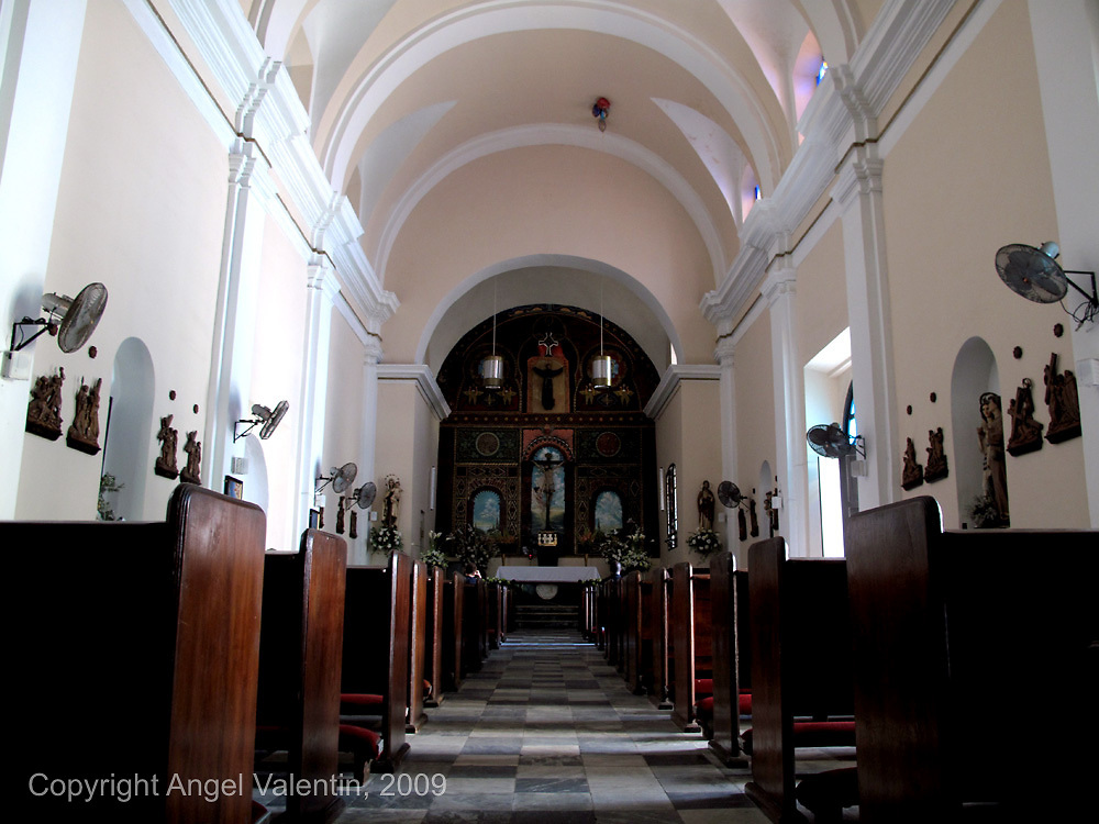 Pews in the San Francisco Church in Old San Juan, Puerto Rico. Under the church there are tombs for churchgoers. The church is almost 300 years old..Photo/Angel Valentin