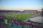 The stadium at dusk during the Emirates Dubai rugby sevens match  at the Sevens Stadium, Al Ain Road, United Arab Emirates on 3 December 2016. Photo by Ian  Muir.*** during the Emirates Dubai rugby sevens match between *** and *** at the Sevens Stadium, Al Ain Road, United Arab Emirates on 3 December 2016. Photo by Ian  Muir.