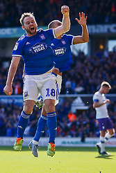 Kayden Jackson of Ipswich Town scores and celebrates - Mandatory by-line: Phil Chaplin/JMP - 28/09/2019 - FOOTBALL - Portman Road - Ipswich, England - Ipswich Town v Tranmere Rovers - Sky Bet Championship