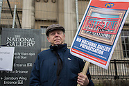15 Mar. 2015 - National Gallery staff continue strike action.